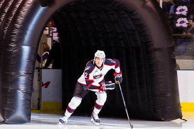 Phil Lane #22(RW) of the Portland Pirates takes the ice prior to the start of the Portland Pirates 2014-15 season opener vs the Providence Bruins at the Cross Insurance Arena in Portland, Maine on 10/11/2014. (Photo by Michael McSweeney/Portland Pirates)