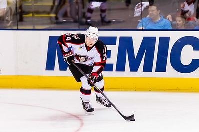 Brendan Shinnimin #24(C) of the Portland Pirates. Portland Pirates 2014-15 season opener vs the Providence Bruins at the Cross Insurance Arena in Portland, Maine on 10/11/2014. (Photo by Michael McSweeney/Portland Pirates)