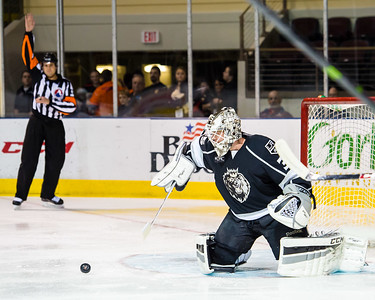 Portland Pirates vs. Manchester Monarchs in VIP Cup action at the Cross Insurance Arena in Portland, Maine on 12/12/2014. (Photo by Michael McSweeney/Portland Pirates)