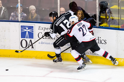 Portland Pirates vs. Manchester Monarchs in VIP Cup action at the Cross Insurance Arena in Portland, Maine on 12/17/2014. (Photo by Michael McSweeney/Portland Pirates)