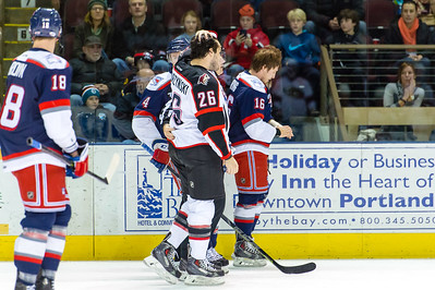 Portland Pirates vs. Hartford Wolf Pack at the Cross Insurance Arena in Portland, Maine on 2/17/2015. (Photo by Michael McSweeney/Portland Pirates)