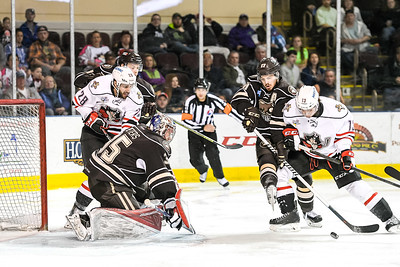 2016 Calder Cup Playoffs. Atlantic Division Semifinal, Game 2. Portland Pirates vs. the Hershey Bears at the Cross Insurance Arena in Portland, Maine on 4/23/2016. (Photo by Michael McSweeney/Portland Pirates)