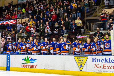 Portland Pirates vs. Bridgeport Sound Tigers at the Cross Insurance Arena in Portland, Maine on 1/23/2015. (Photo by Michael McSweeney/Portland Pirates)