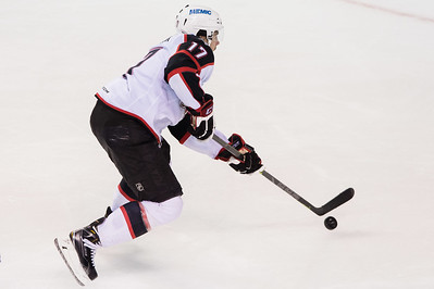Jordan Martinook #17(C) of the Portland Pirates looks to take a shot during the Portland Pirates regular season contest vs. the Syracuse Crunch at the Cross Insurance Arena in Portland, Maine on 10/25/2014. (Photo by Michael McSweeney/Portland Pirates)