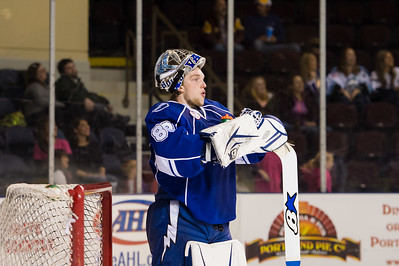 Andrei Vasilevskiy #88(G) of the Syracuse Crunch. Portland Pirates regular season contest vs. the Syracuse Crunch at the Cross Insurance Arena in Portland, Maine on 10/25/2014. (Photo by Michael McSweeney/Portland Pirates)