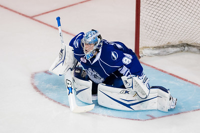 Andrei Vasilevskiy #88(G) of the Syracuse Crunch readies for a save during the Portland Pirates regular season contest vs. the Syracuse Crunch at the Cross Insurance Arena in Portland, Maine on 10/25/2014. (Photo by Michael McSweeney/Portland Pirates)