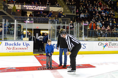 Portland Pirates regular season contest against the Springfield Falcons at the Cross Insurance Arena in Portland, Maine on 2/28/2016. (Photo by Michael McSweeney/Portland Pirates)