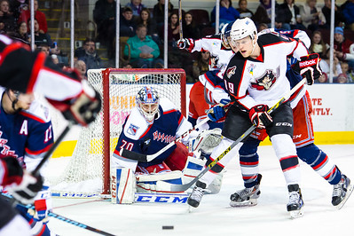 Portland Pirates vs.Hartford Wolf Pack at the Cross Insurance Arena in Portland, Maine on 12/31/2014. (Photo by Michael McSweeney/Portland Pirates)