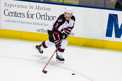 Dylan Reese #2(D) of the Portland Pirates. Portland Pirates regular season contest vs. the St. John's IceCaps at the Cross Insurance Arena in Portland, Maine on 10/31/2014. (Photo by Michael McSweeney/Portland Pirates)