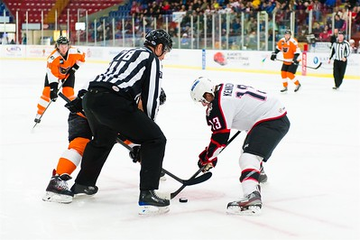 AHL Portland Pirates host the AHL Adirondack Phantoms during a 2013-14 regular season contest at the Androscoggin Bank Colisée, Lewiston, Maine, USA, on 2/16/2014. Photo: Michael McSweeney.