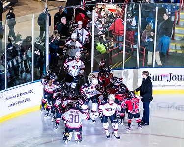 AHL Portland Pirates host the AHL Binghamton Senators during a 2013-14 regular season contest at the Androscoggin Bank Colisée in Lewiston, Maine, USA on 2/1/2014. Photo: Michael McSweeney.