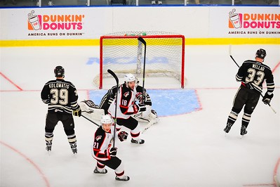 AHL Portland Pirates host the AHL Hershey Bears during a 2013-14 regular season contest at the Androscoggin Bank Colisée, Lewiston, Maine, USA, on 4/2/2014. Photo: Michael McSweeney.