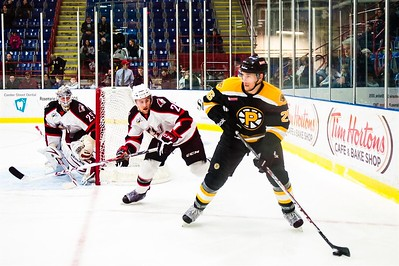 Portland Pirates host the Providence Bruins in a regular season contest at the Androscoggin Bank Colisée, Lewiston,Maine, USA on 11 December 2013. Photo: Michael McSweeney.