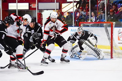 AHL Portland Pirates host the AHL Manchester Monarchs during a 2013-14 regular season contest at the Androscoggin Bank Colisée, Lewiston, Maine, USA, on 3/29/2014. Photo: Michael McSweeney.