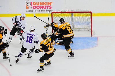 AHL Portland Pirates host the AHL Providence Bruins during a 2013-14 regular season contest at the Androscoggin Bank Colisée, Lewiston, Maine, USA, on 3/28/2014. Photo: Michael McSweeney.