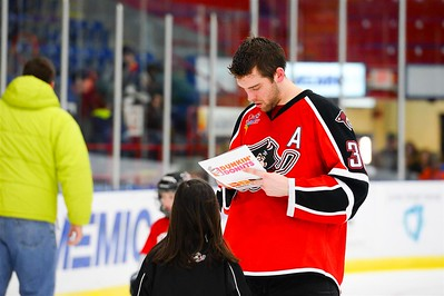AHL Portland Pirates Team and Community Skate. Androscoggin Bank Colisée, Lewiston, Maine, USA on 3/2/2014. Photo: Michael McSweeney.