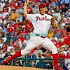August 20, 2009: Phillie's starting pitcher Joe Blanton (56) delivers a pitch to homeplate during the game between the Arizona Diamondbacks and the Philadelphia Phillies at Citzens Bank Park in Philadelphia, PA. The Phillies defeated the Diamondbacks 12-3. Donald B. Kravitz