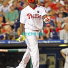 August 20, 2009: Phillie's 1B Ryan Howard (6) watches his home run leave the park during the game between the Arizona Diamondbacks and the Philadelphia Phillies at Citzens Bank Park in Philadelphia, PA. The Phillies defeated the Diamondbacks 12-3. Donald B. Kravitz