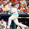 August 20, 2009: Phillie's SS Jimmy Rollins (11) hits a ground ball to third during the game between the Arizona Diamondbacks and the Philadelphia Phillies at Citzens Bank Park in Philadelphia, PA. The Phillies defeated the Diamondbacks 12-3. Donald B. Kravitz
