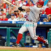 August 20, 2009: Diamondbacks 1st Baseman Chad Tracey (18) launches a fly ball to  center during the game between the Arizona Diamondbacks and the Philadelphia Phillies at Citzens Bank Park in Philadelphia, PA. The Phillies defeated the Diamondbacks 12-3. Donald B. Kravitz