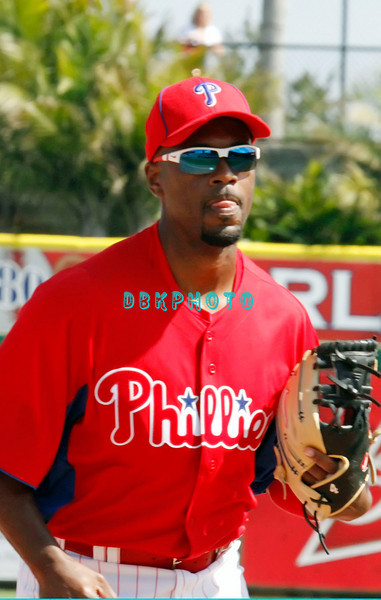 "February 27, 2011; The Philadelphia Phillies' played their home  opening Spring Training game against the New York Yankee's in front of a ""Sold Out"" crowd of  over 10,000 Phillies' and Yankee fans in Clearwater, Fla. The Yankee's won, 7-3 Photos by Donald B. Kravitz"