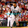 8 September 2008: Florida Marlins, pitcher Anibal Sanchez (36) watches his pitch in the game against the Philadelphia Phillies. Philadelphia went on to win defeating the Marlins 8-6 in Citizens Bank Stadium in Philadelphia, PA