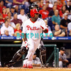 8 September 2008: Philadelphia Phillies' Ryan Howard, (6) takes off after hitting a long ball to left field in the game against the Florida Marlins. Philadelphia went on to win defeating the Marlins 8-6 in Citizens Bank Stadium in Philadelphia, PA