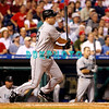 8 September 2008: Florida Marlins, 3rd baseman Wes Helm (18) pinch hits late in the game against the Philadelphia Phillies. Philadelphia went on to win defeating the Marlins 8-6 in Citizens Bank Stadium in Philadelphia, PA
