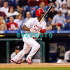 8 September 2008: Philadelphia Phillies' Jimmy Rollins (11) takes off for 1st base on a hard hit ground ball in the game against the Florida Marlins. Philadelphia went on to win defeating the Marlins 8-6 in Citizens Bank Stadium in Philadelphia, PA