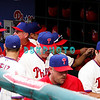 28 September 2008: Philadelphia Phillie's players including a smiling Manager, Charlie Manue, Ryan Howard and other players head to locker room after winning the last game of the regular seanson in the game against the Philadelphia Phillies. Philadelphia went on to win defeating the Nationals 8-3 in Citizens Bank Stadium in Philadelphia, PA