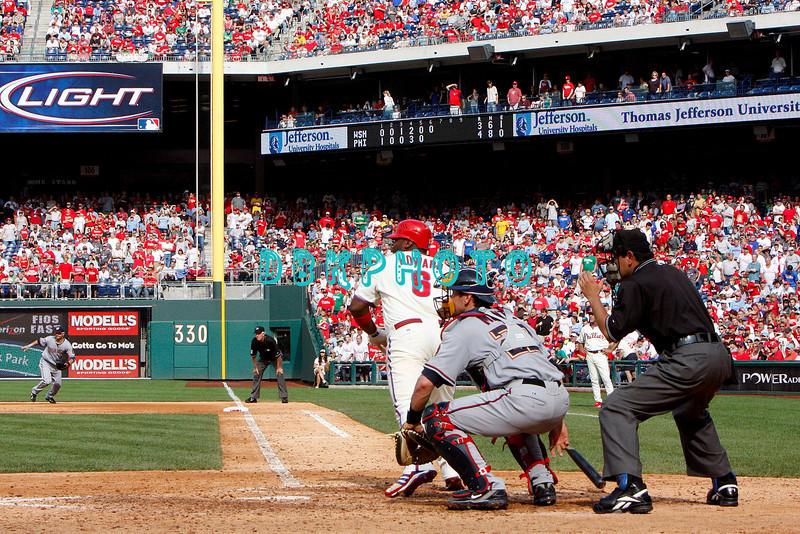 28 September 2008: Philadelphia Phillie's 1st baseman Ryan Howard (6) hits a pinch hit single in the last game of the regular seanson in the game against the Philadelphia Phillies. Philadelphia went on to win defeating the Nationals 8-3 in Citizens Bank Stadium in Philadelphia, PA