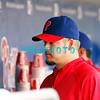 28 September 2008: Philadelphia Phillie's pitcher Joe Blanton (56) relaxes in the dugout in the last game of the regular seanson in the game against the Philadelphia Phillies. Philadelphia went on to win defeating the Nationals 8-3 in Citizens Bank Stadium in Philadelphia, PA