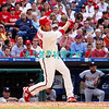 28 September 2008: Philadelphia Phillie's Jayson Werth (28) gets a pinch hit single in the last game of the regular seanson in the game against the Philadelphia Phillies. Philadelphia went on to win defeating the Nationals 8-3 in Citizens Bank Stadium in Philadelphia, PA