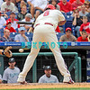 7 August 2008: Philadelphia Phillies' Ryan Howard (6) jumps back off a low inside pitch against the Florida Marlins. The Marlins went on to win defeating the Phillies 3-0 in Citizens Bank Stadium in Philadelphia, PA