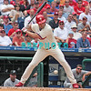 7 August 2008: Philadelphia Phillies' Pat Burrell (5) takes a low pitch and walked early in the game against the Florida Marlins. The Marlins went on to win defeating the Phillies 3-0 in Citizens Bank Stadium in Philadelphia, PA