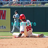 7 August 2008: Philadelphia Phillies' Outfielder Jason Werth (28) slides into second after hitting a double late in the game against the Florida Marlins. The Marlins went on to win defeating the Phillies 3-0 in Citizens Bank Stadium in Philadelphia, PA