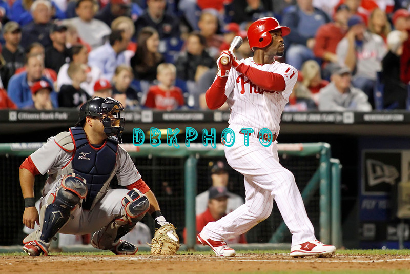 September 19, 2011, Philadelphia, Pennsylvania, U.S. JIMMY ROLLINS, #11, Shortstop of the Phillie's in action during the game between the Phillie's and the St. Louis Cardinals at Citizens Bank Park, Philadelphia, PA. The Cardinals defeated the Phillie's 4-3.