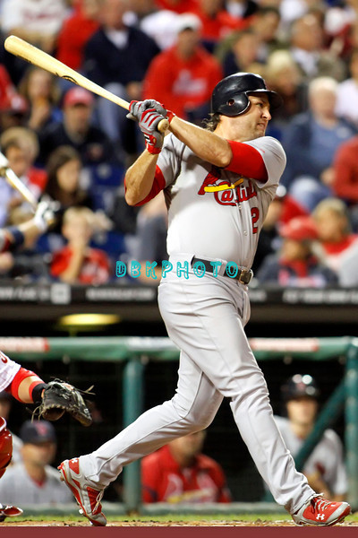 September 19, 2011, Philadelphia, Pennsylvania, U.S. LANCE BERKMAN, #12 outfielder homers during the game between the Phillie's and the St. Louis Cardinals at Citizens Bank Park, Philadelphia, PA. The Cardinals defeated the Phillie's 4-3.
