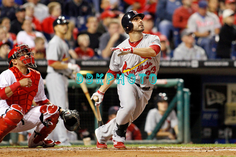 September 19, 2011, Philadelphia, Pennsylvania, U.S. DANIEL DESCALO, #33 3rd baseman of the Cardinals in action during the game between the Phillie's and the St. Louis Cardinals at Citizens Bank Park, Philadelphia, PA. The Cardinals defeated the Phillie's 4-3.