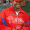 "September 19, 2011, Philadelphia, Pennsylvania, U.S. RYAN HOWARD, #6 1st baseman of the Phillie's is presented ""The 2011 Roberto Clemente Award"" by Chevy prior to the game between the Phillie's and the St. Louis Cardinals at Citizens Bank Park, Philadelphia, PA. The Cardinals defeated the Phillie's 4-3."