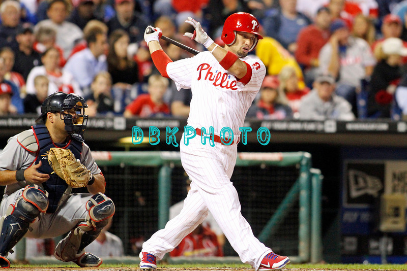 September 19, 2011, Philadelphia, Pennsylvania, U.S. SHANE VICTORINO, #8 outfielder of the Phillie's in action during the game between the Phillie's and the St. Louis Cardinals at Citizens Bank Park, Philadelphia, PA. The Cardinals defeated the Phillie's 4-3.
