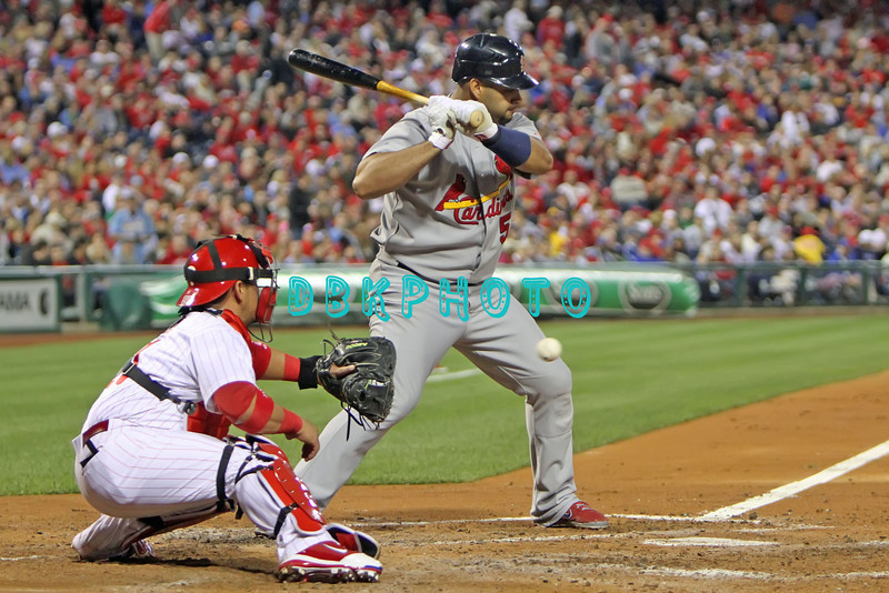 September 19, 2011, Philadelphia, Pennsylvania, U.S. ALBERT PUJOLS, #5 1st baseman of the Cardinals in action during the game between the Phillie's and the St. Louis Cardinals at Citizens Bank Park, Philadelphia, PA. The Cardinals defeated the Phillie's 4-3.