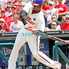 July 31, 2011 Philadelphia Phillie's,1st Baseman, Ryan Howard, #6, hits a line drive during the game against the Pittsburgh Pirates' at Citizens Bank Park in Philadelphia, PA. The Phillie's defeated the Pirates 6-5 in 10 innings. <br /> (Credit Image: ©  Donald B. Kravitz