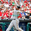 July 31, 2011 Pittsburgh Pirate's, Neil Walker, 2nd baseman, #18, grounds out during the game against the Philadelphia Phillie's at Citizens Bank Park in Philadelphia, PA. The Phillie's defeated the Pirates 6-5 in 10 innings. <br /> (Credit Image: ©  Donald B. Kravitz