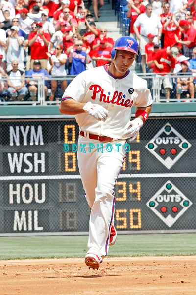 July 31, 2011 Philadelphia Phillie's, outfielder, Raul Ibanez, #29 rounds the bases after he hits his 2nd  home run during the game against the Pittsburgh Pirate's at Citizens Bank Park in Philadelphia, PA. The Phillie's defeated the Pirates 6-5 in 10 innings. <br /> (Credit Image: ©  Donald B. Kravitz