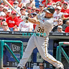 July 31, 2011 Pittsburgh Pirate's, Xavier Paul, outfielder, #38, strikes out during the game against the Philadelphia Phillie's at Citizens Bank Park in Philadelphia, PA. The Phillie's defeated the Pirates 6-5 in 10 innings. <br /> (Credit Image: ©  Donald B. Kravitz
