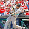 July 31, 2011 Pittsburgh Pirate's, Garrett Jones, outfielder, #46, grounds out during the game against the Philadelphia Phillie's at Citizens Bank Park in Philadelphia, PA. The Phillie's defeated the Pirates 6-5 in 10 innings. <br /> (Credit Image: ©  Donald B. Kravitz