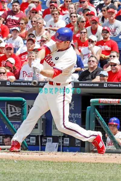 July 31, 2011 Philadelphia Phillie's,#26 2nd Baseman, Chase Utley, fly's out during the game against the Pittsburgh Pirate's at Citizens Bank Park in Philadelphia, PA. The Phillie's defeated the Pirates 6-5 in 10 innings. <br /> (Credit Image: ©  Donald B. Kravitz