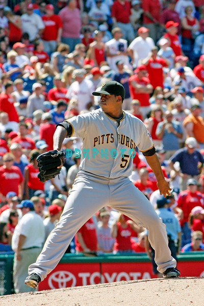July 12, 2009: Pirates pitcher, Dobald Veal (56) prepares to deliver a pitch to home plate during the game between the Pittsburgh Pirates and the Philadelphia Phillies at Citzens Bank Park in Philadelphia, PA. The Phillies beat the Pirates 5-2. Donald B. Kravitz