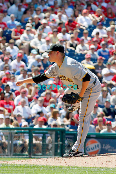July 12, 2009: Pirates pitcherEvan Meek (47) prepares to deliver a pitch to home plate during the game between the Pittsburgh Pirates and the Philadelphia Phillies at Citzens Bank Park in Philadelphia, PA. The Phillies beat the Pirates 5-2. Donald B. Kravitz
